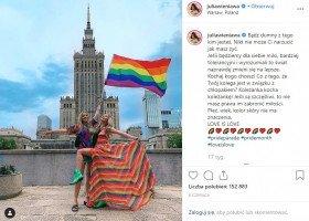 Julia Wieniawa o wspieraniu osób LGBTQ: będę to robić dalej