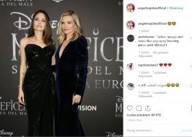 """Angelina Jolie pocałowała Michelle Pfeiffer na premierze nowej """"Czarownicy"""""""