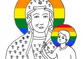 Prokuratura w Częstochowie: tęczowa Matka Boska nie obraża uczuć religijnych