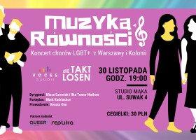 Dwa chóry LGBT+, jeden koncert - pierwsze takie wydarzenie w Warszawie