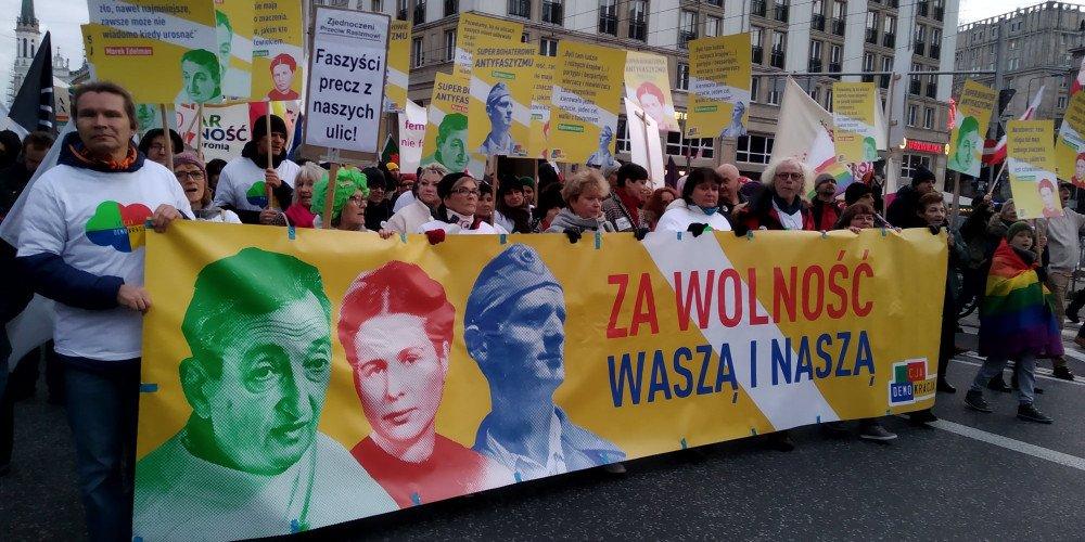 Marsz Antyfaszystowski w Warszawie: za Wolność Waszą i Naszą
