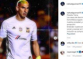 Bramkarz Tigres UANL przefarbował włosy na tęczowo