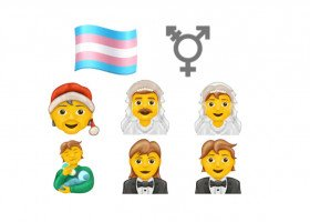 Flaga osób transpłciowych wśród nowych emoji