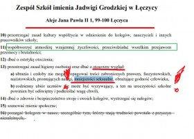 Statut szkoły w Łęczycy: zakaz propagowania faszyzmu i... mniejszości seksualnych