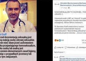 """Neurolog nazywa homoseksualność """"dezorientacją"""" i przyrównuje ją do pedofilii"""