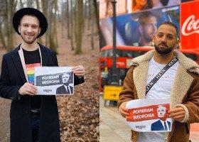 Zdobywcy tytułu Mister Gay Poland głosują na Biedronia!
