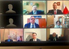 Telekonferencja samorządowców na temat uchwał anty-LGBT