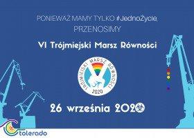 Trójmiejski Marsz Równości nie odbędzie się w maju