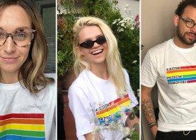 Celebryci pozują w koszulkach #JestemPrzeciwHomofobii