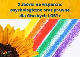 Fundacja Cicha Tęcza: zbiórka na pomoc psychologiczną i prawną dla głuchych osób LGBT