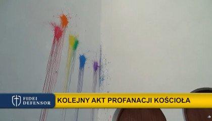 """""""Macie krew na rękach"""". Tęcza i napisy na szczecińskim kościele"""