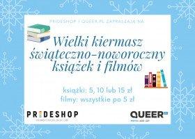 Zapraszamy na kiermasz świąteczno-noworoczny książek i filmów na Prideshop!