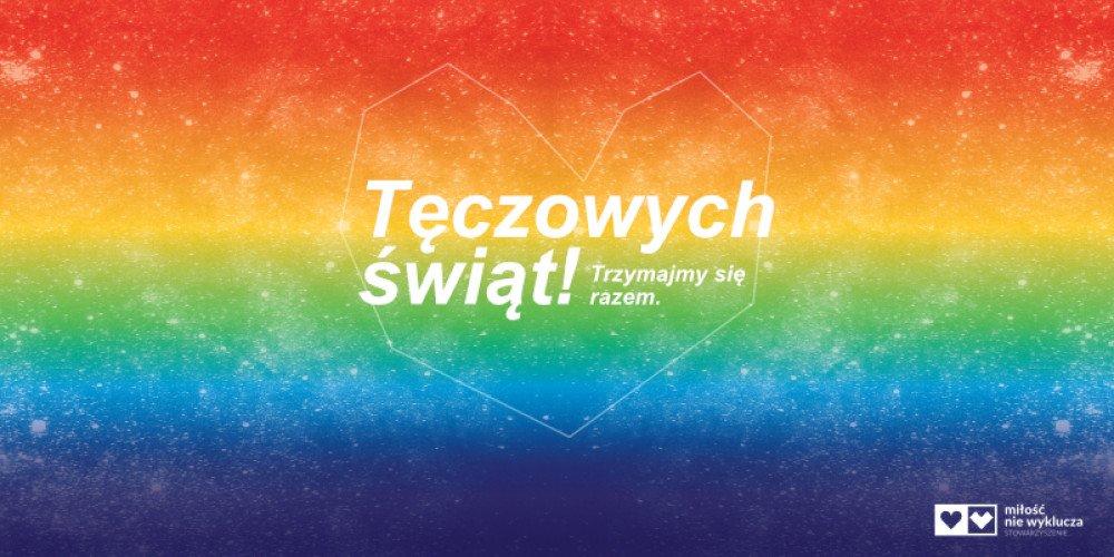 Miłość nie Wyklucza powiesiła tęczowe billboardy z życzeniami świątecznymi w 24 miastach Polski