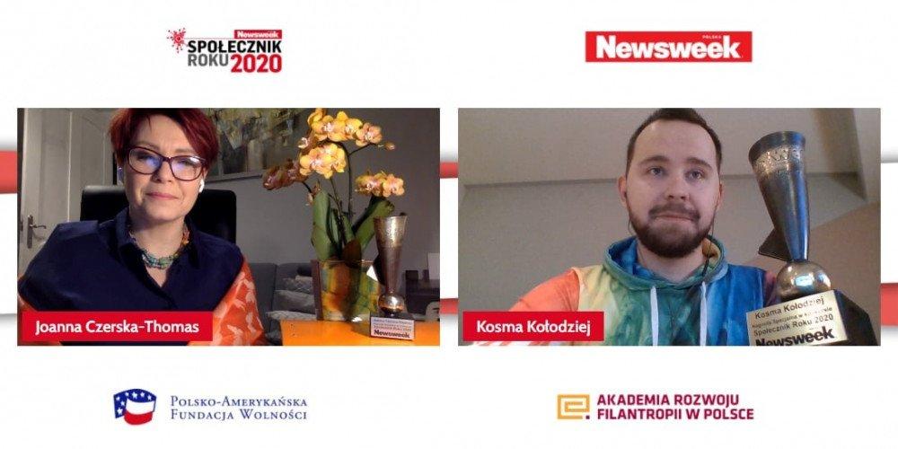 Kosma Kołodziej, bydgoski aktywista LGBT, został wyróżniony nagrodą Społecznika Roku 2020