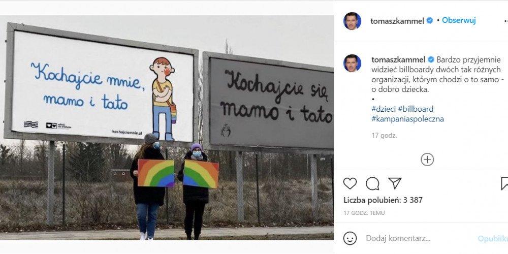 TVP: Kammel dołącza do Manowskiej. Wpis o billboardzie pro LGBT próbą ocieplenia wizerunku?