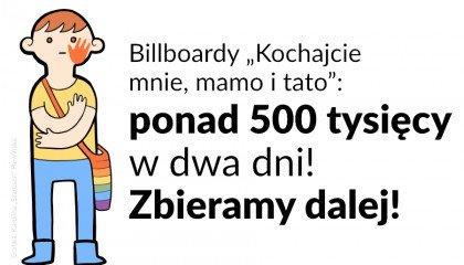 Pół miliona w dwa dni: co dalej ze zbiórką na billboardy wspierające osoby LGBT+?