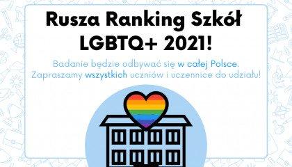 Startuje Ranking Szkół przyjaznych LGBTQ+ 2021!