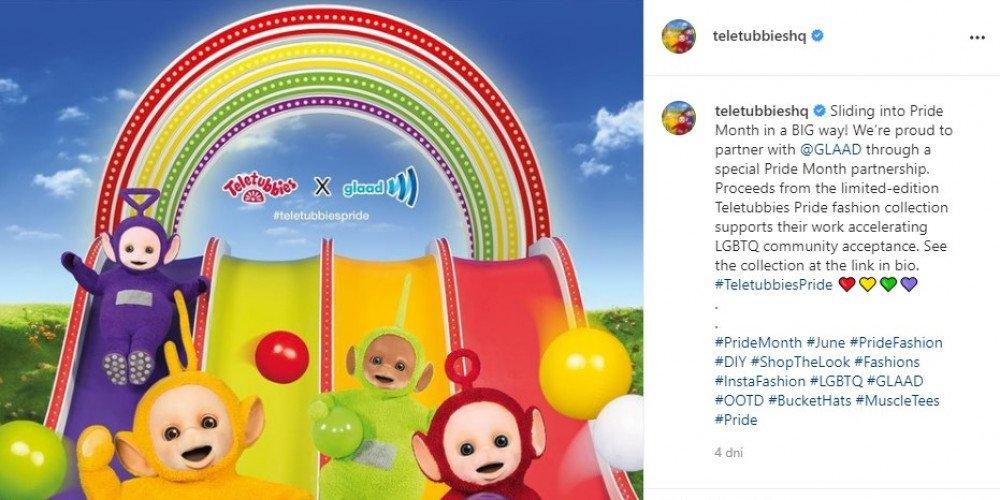 Teletubisie wydają swoją pierwszą tęczową kolekcję z okazji Pride Month