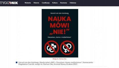 Tygodnik TVP promuje antynaukową, homofobiczną książkę, a my zbieramy najlepsze (najgorsze) cytaty - niektóre przerażają