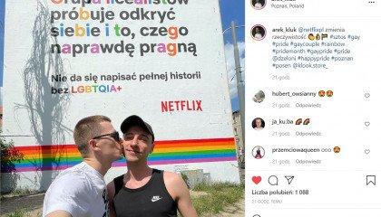 Murale Netflixa po raz kolejny promują seriale LBGTQIA+ - Poznań, Warszawa, Wrocław