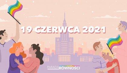 Oficjalnie: 19 czerwca odbędzie się warszawska Parada Równości!