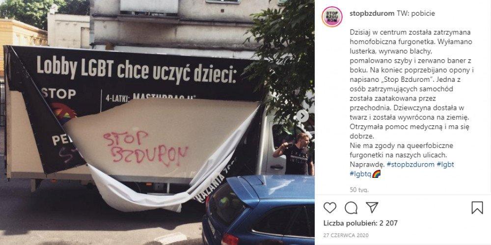 Margot i Łania z aktem oskarżenia za atak na homofobusa. Grozi im do 5 lat więzienia