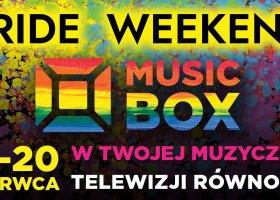 Pride Week w Music Box Polska - tęczowe logo i weekend z queerowymi piosenkami
