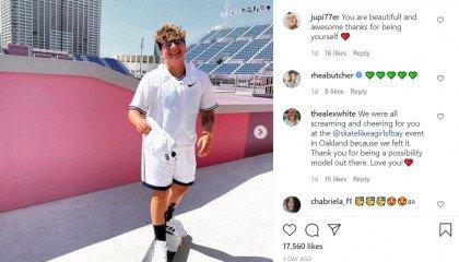 Zaimki wypisane na deskorolce - pierwsza niebinarna osoba w historii amerykańskiej drużyny olimpijskiej