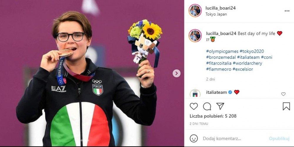 Coming out włoskiej łuczniczki na konferencji prasowej po zdobyciu brązowego medalu igrzysk olimpijskich