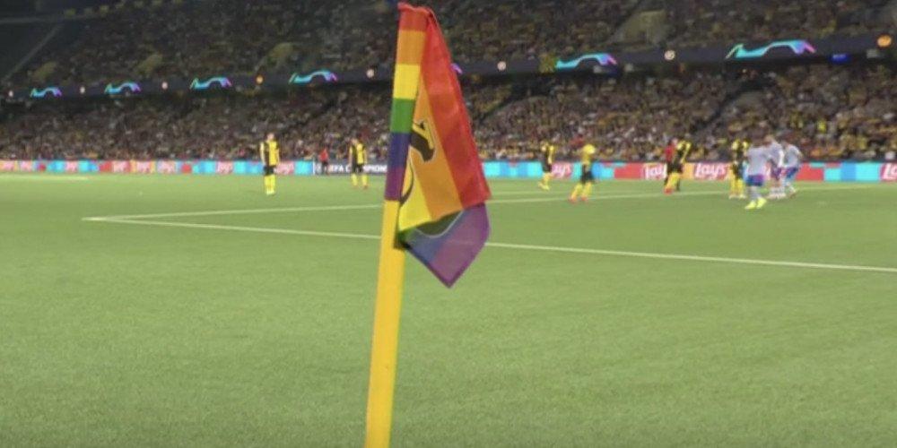 Wsparcie dla społeczności LGBT w Lidze Mistrzów. Prawicowe media nie przeoczą żadnej tęczy