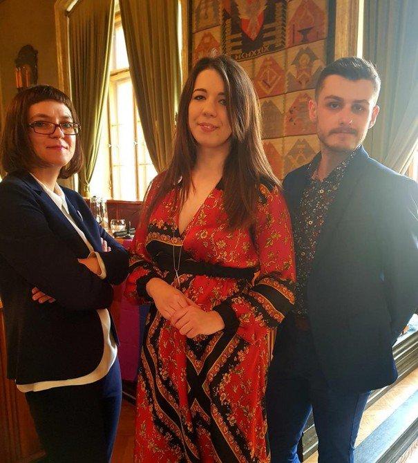 Magda Dropek, Nina Gabryś i Artur Maciejewski, organizatorzy konferencji