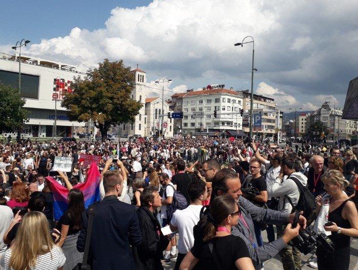 Marsz Równości w Sarajewie - zdjęcie: 1/12