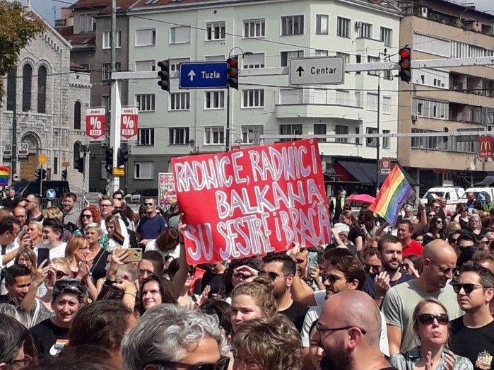 Marsz Równości w Sarajewie - zdjęcie: 2/12