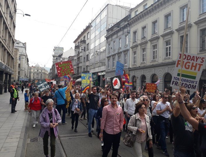 Marsz Równości w Sarajewie - zdjęcie: 4/12