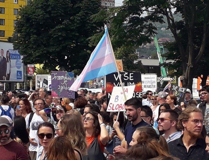 Marsz Równości w Sarajewie - zdjęcie: 9/12