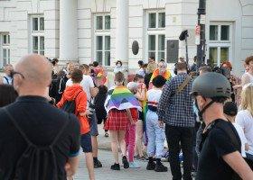 Tęczowe Disco pod Pałacem Prezydenckim