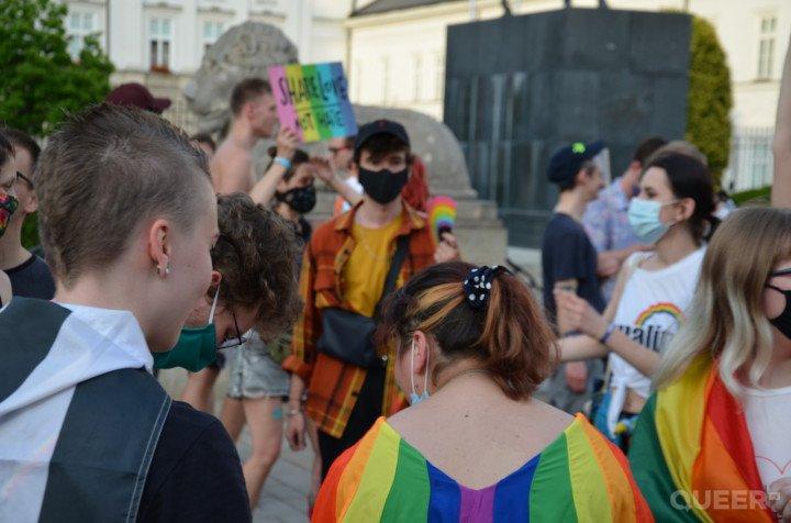 Tęczowe Disco pod Pałacem Prezydenckim - zdjęcie: 34/74