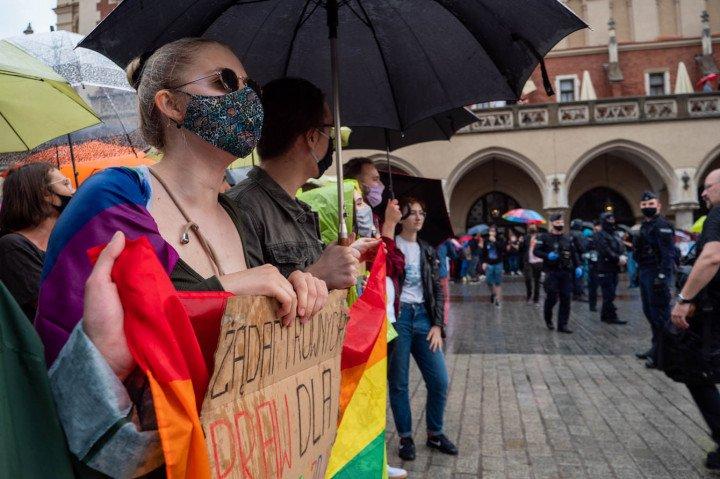 Manifestacja przeciwko Karcie Rodzin, Kraków - zdjęcie: 6/20
