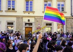 Protest solidarnościowy z Margot w Krakowie