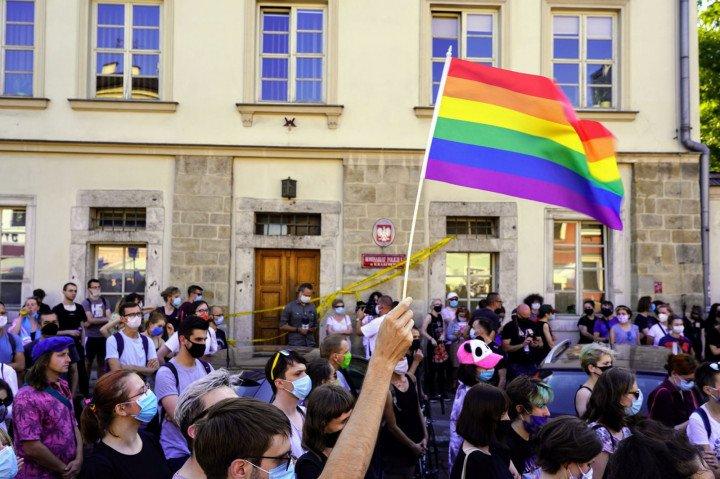 Protest solidarnościowy z Margot w Krakowie - zdjęcie: 1/20