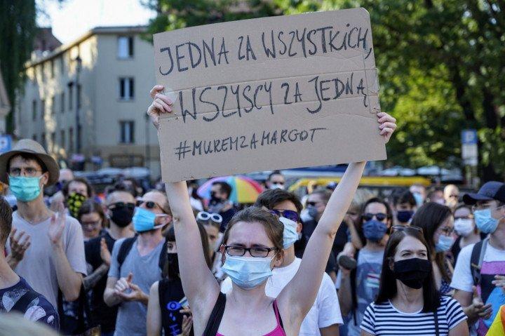 Protest solidarnościowy z Margot w Krakowie - zdjęcie: 3/20