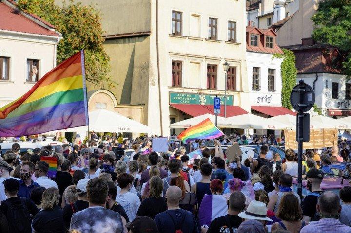 Protest solidarnościowy z Margot w Krakowie - zdjęcie: 4/20