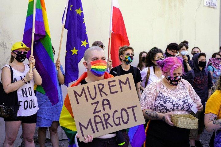 Protest solidarnościowy z Margot w Krakowie - zdjęcie: 6/20