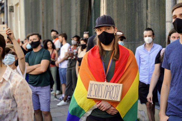 Protest solidarnościowy z Margot w Krakowie - zdjęcie: 7/20