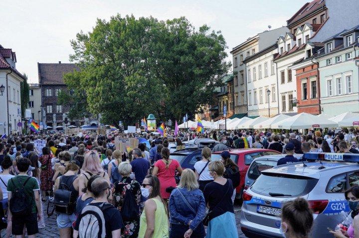 Protest solidarnościowy z Margot w Krakowie - zdjęcie: 8/20