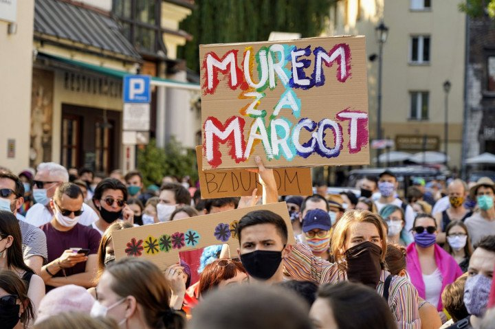 Protest solidarnościowy z Margot w Krakowie - zdjęcie: 9/20