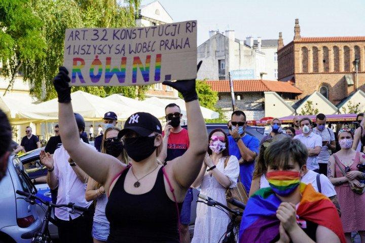 Protest solidarnościowy z Margot w Krakowie - zdjęcie: 13/20