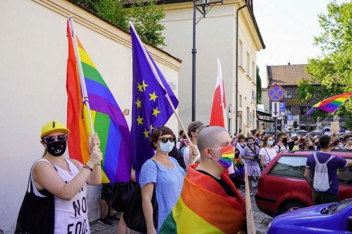 Protest solidarnościowy z Margot w Krakowie - zdjęcie: 14/20