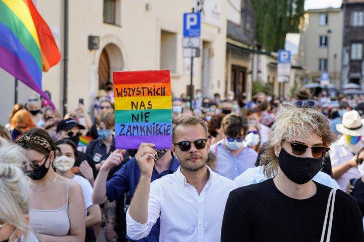 Protest solidarnościowy z Margot w Krakowie - zdjęcie: 16/20