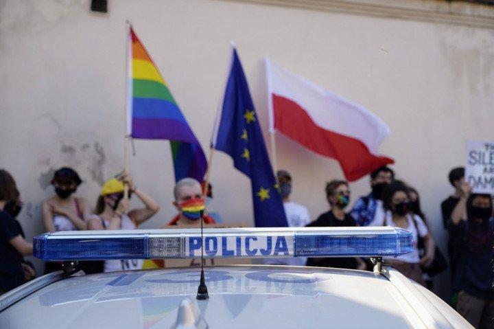 Protest solidarnościowy z Margot w Krakowie - zdjęcie: 17/20